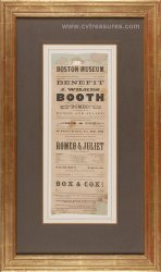 John Wilkes Booth Original Antique 1863 Broadside Playbill