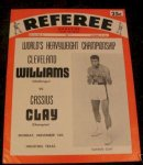 Muhammad Ali (Cassius Clay) original fight program 1966