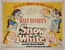 Disney's Snow White half sheet movie poster 1943
