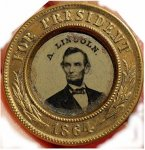 Abraham Lincoln & Johnson Ferrotype Token civil war memorabilia