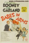 Babes in Arms vintage Movie Poster Mickey Rooney Judy Garland
