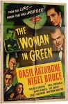 Sherlock Holmes Movie Poster Woman in Green one sheet Basil Rath