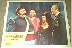Disney's The Sign of Zorro, 1960 Guy Williams Lobby Card