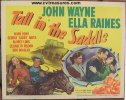 Tall in the Saddle Western Movie Poster John Wayne Title Card 47