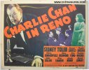 Charlie Chan in Reno Vintage Movie Poster Title Card 1939