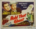 Hold That Ghost Original Vintage Title Lobby Card Movie Poster