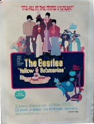 Beatles Yellow Submarine original vintage movie poster one sheet