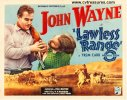 Lawless Range Vintage Western Movie Poster Half Sheet John Wayne
