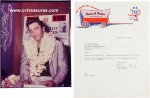 Elvis Presley 1957 Hawaii ORIGINAL Vintage Photo and Letter