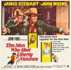 Man Who SHot Liberty Valance Western Movie Poster Six Sheet,Duke