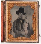Civil War Photos Ambrotype Cajun Fiddle Player