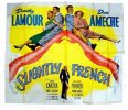 Slightly French, 1948, Dorothy Lamour and Don Ameche, Six Sheet