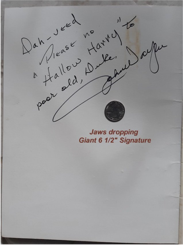 John Wayne Authentically Signed Autographed Program, 1971 - Click Image to Close