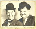 Laurel and Hardy Signed Autographed Photo