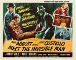 Abbott & Costello Meet the Invisible Half Sheet Rare Style B
