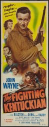 John Wayne Fighting Kentuckian Insert Movie Poster 1949