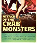 Attack of the Crab Monsters Vintage Horror Movie Poster Insert