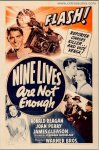 Nine Lives Are Not Enough Vintage Movie Poster Ronald Reagan