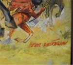 Norm Eastman Western Cowboy Indian Oil Painting Illustration Art