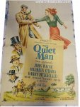 Quiet Man Vintage Movie Poster ORIGINAL 1951 Release John Wayne