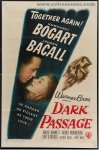 Dark Passage Original Vintage Movie Poster Humphrey Bogart Becal