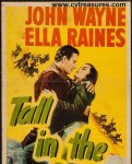 John Wayne Tall in the Saddle vintage insert movie poster 1944
