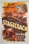 Stagecoach Original Vintage One Sheet Movie Poster 1944