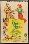 Quiet Man Vintage Movie Poster One Sheet John Wayne RARE Versio