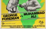 Muhammad Ali George Foreman Vintage Fight Boxing Poster LARGE