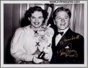 Mickey Rooney & Judy Garland Autographed Photo