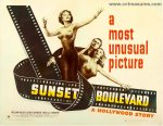 Sunset Boulevard Original Vintage Movie Poster Half Sheet Holden