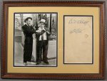 Abbott & Costello, Authentic Vintage IN-PERSON signed Autographs