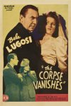 The Corpse Vanishes movie poster one sheet - Bela Lugosi 1942