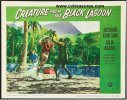Creature from the Black Lagoon, vintage lobby card, 1954 attack