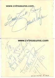 "John Wayne Vintage Autograph w/RARE Wallace Ford ""Freaks"""