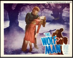 Wolf Man Vintage Horror Lobby Card Movie Poster Lon Chaney Jr