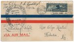 Charles Lindbergh Autographed Airmail Cover, 1928