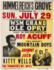 Roy Acuf VERY RARE Original Vintage Concert Poster,1956