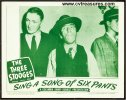 Three Stooges Sing a Song of Six Pants Lobby Card 1947 3