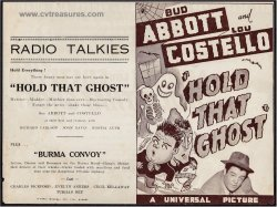 Hold That Ghost Original Vintage Movie Herald Abbott & Costello
