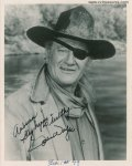 John Wayne Authentic Signed Autographed Photo Rooster Cogburn