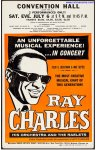 Ray Charles VERY RARE Original Vintage Concert Poster 1968
