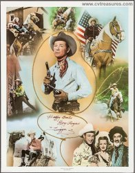 Roy Rogers Original Vintage Signed Autographed Lithograph