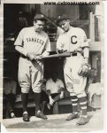 Vintage Baseball Wire Photo Babe Ruth 1929 Showing Bat