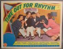Three Stooges Time Out for Rhythm Lobby Card 1941 a