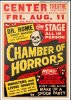 Dr. Rome Presents his Original Chamber of Horrors Poster RI 1957