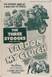 Pardon My Clutch Three Stooges Original Vintage movie poster