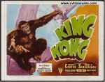 King Kong Original Vintage Horror Movie Poster Title Card 1946
