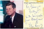 John Kennedy JFK Autographed Signed Note NICE!