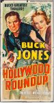 Hollywood Roundup Vintage Western Movie Poster 3 Sht Buck Jones